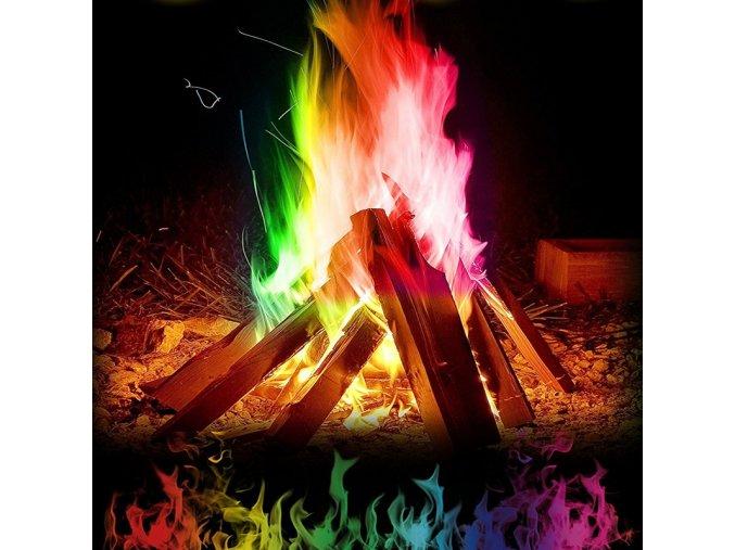 Kouzelný barevný oheň