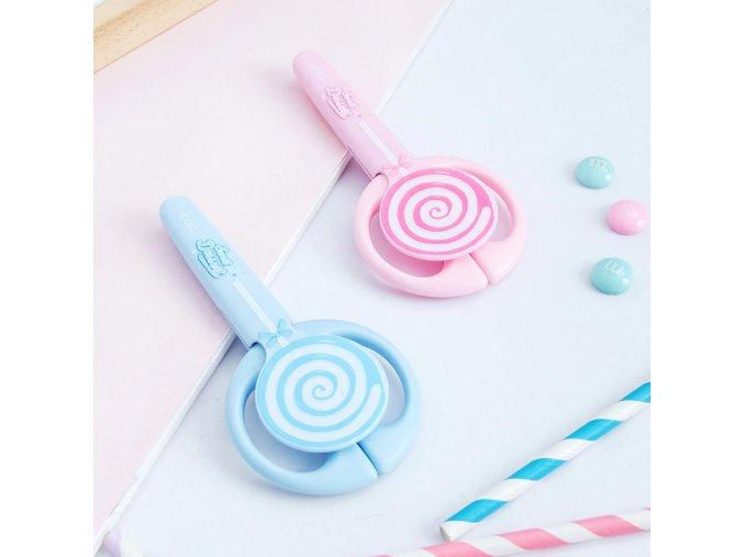 Dětské nůžky ve tvaru lízátka