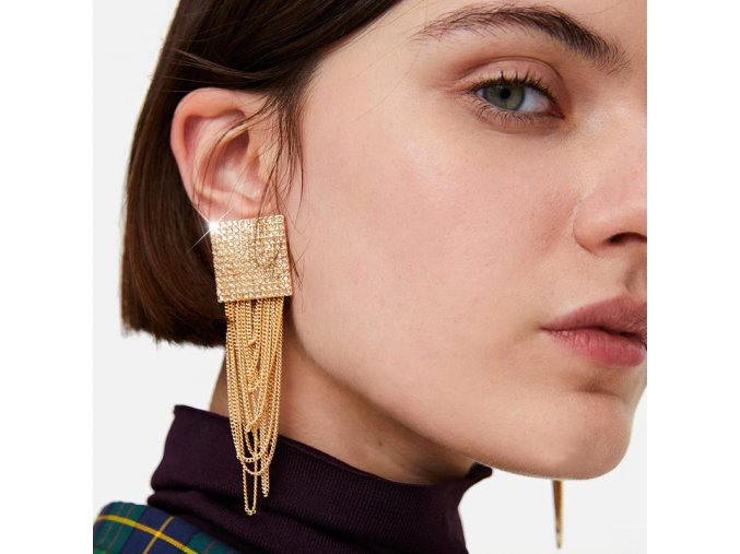 0 main christmas earrings long tassel drop earrings set for women girl 2019 new fashion geometric earring brincos female jewelry gift