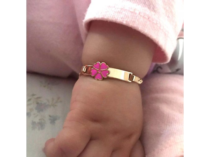 0 main pink heart bracelets for little baby girl bracelet kids jewelry christmas gift baptism armband gold pulsera bebe pulceras b0929
