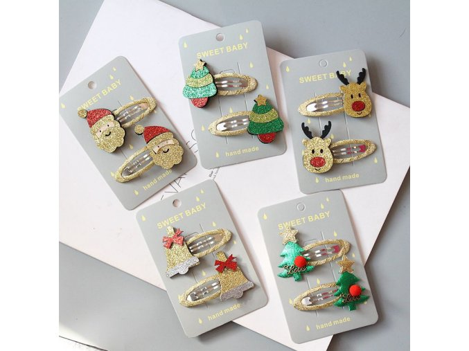 0 main christmas gift hairpin set children hair accessories holiday gift princess christmas hairpin girl hair accessories side clip