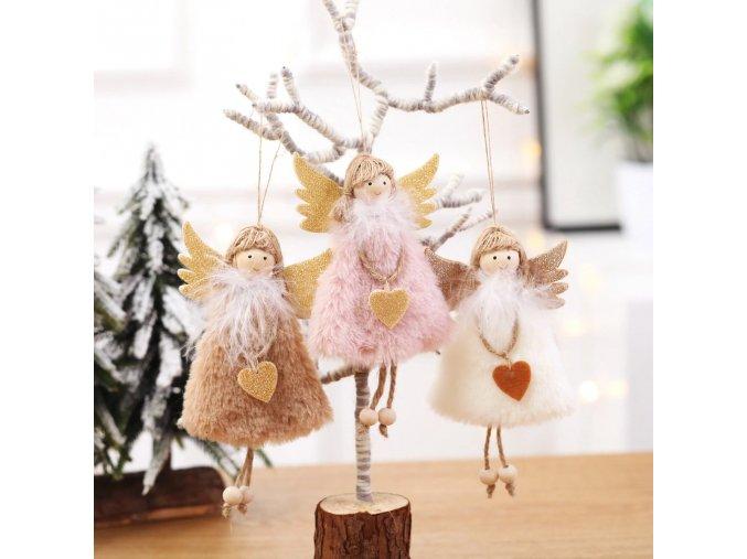 1 main 2021 new year latest christmas angel dolls cute xmas tree ornament noel deco christmas decoration for home navidad 2020 kid gift (1)