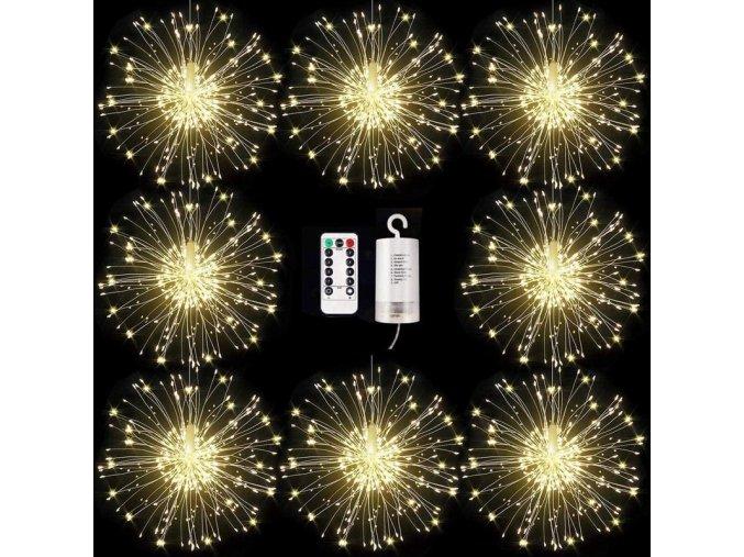 mainimage0120 180 LED Hanging Starburst String Light Firework Copper Fairy Garland Xmas Lights Outside Twinkle Lamp