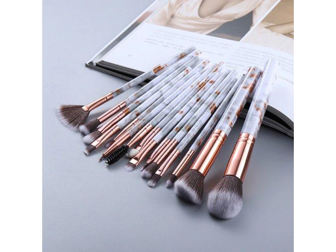 Sada štětců na makeup - 15 kusů