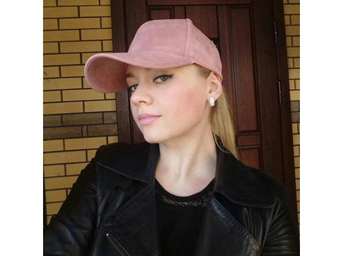 Semišová kšiltovka LISA