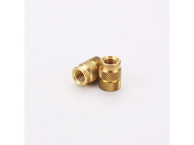 1 main brass hot melt inset nuts heating molding copper thread inserts nut sl type double twill knurled injection brass nut m2m3 100pcs