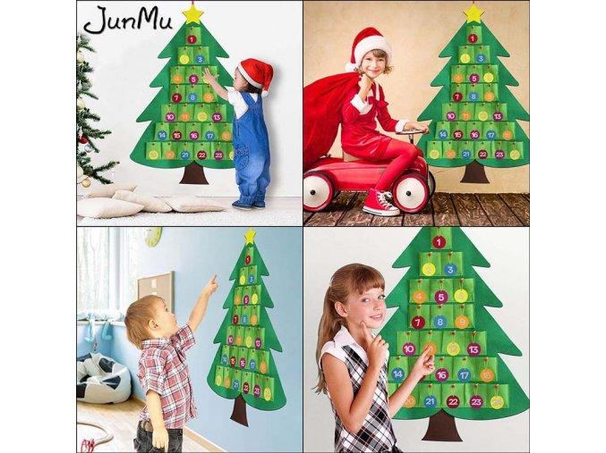 Velký adventní kalendář - vánoční strom
