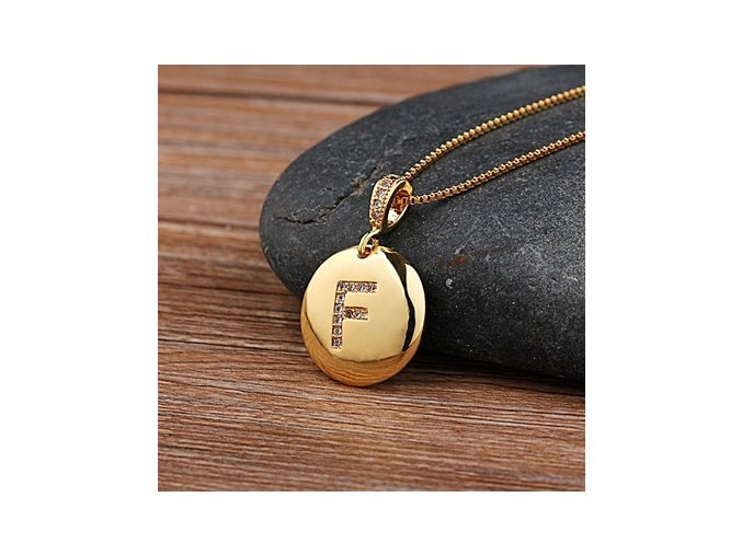 5 variant top quality women girls initial letter necklace gold 26 letters charm necklaces pendants copper cz jewelry personal necklace