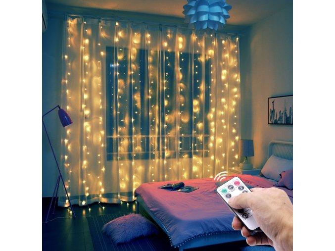 Vánoční osvětlení LED závěs