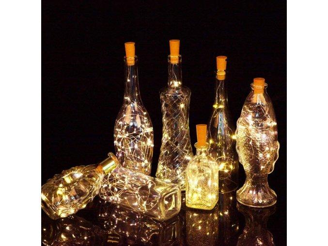 4 main string led wine bottle with cork 20 led bottle lights battery cork for party wedding christmas halloween bar decor warm white