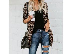 Dámský leopardí kabátek