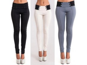 Dámské kalhoty s vysokým pasemS)