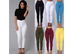 Dámské kalhoty s vysokým pasem