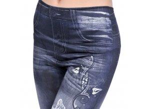 Džínové kalhoty s potiskem