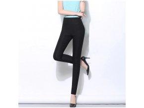 Dámské barevné kalhoty s vysokým pasem AMY
