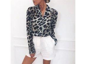 Dámská košile s leopardím vzorem (Velikost S)