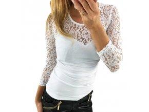 Dámské tričko s dlouhým rukávem (barva červená, Velikost XL)