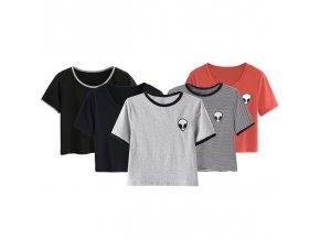 Dámské tričko s ufonem (barva Modrá, Velikost S)