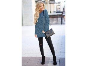 Dámský svetr (barva Modrá, Velikost S)