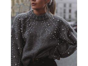 dámský svetr s perlami (Velikost S)