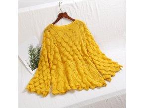 teplý dámský svetr (barva Bílá)