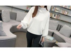 dámský zimní svetr (barva Bílá)