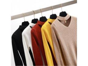 stylový dámský svetr (barva Bílá)