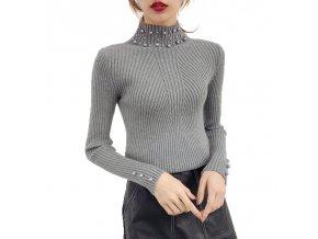 podzimní dámský svetr (Varianta 1)