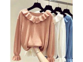 elegantní zimní dámský svetr (barva Oranžová)