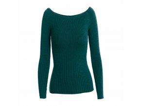 Dámský svetr s odhalenými rameny (barva Modrá)