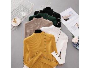 Dámský svetr se stojáčkem (barva Bílá)