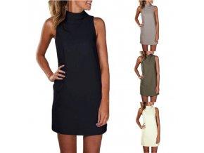 Dámské letní šaty bez rukávu (barva Bílá, Velikost S)