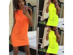 Dámské letní šaty (barva žlutá, Velikost S)
