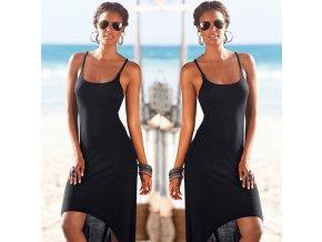 Dámské letní šaty (barva černá, Velikost M)