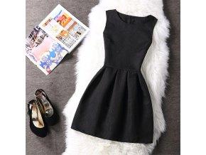 Dámské společenské jednoduché šaty (barva Bílá, Velikost S)