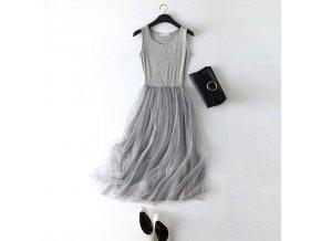 Dlouhé šaty s tylovou sukní