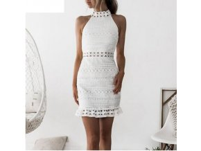 Dámské háčkované šaty (Velikost S)