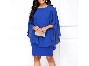 Dámské společenské šaty (barva Modrá, Velikost S)