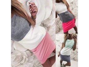 Dámské letní šaty (barva růžová, Velikost S)