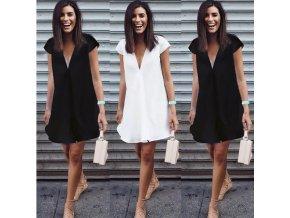 Dámské šaty s krátkým rukávem (barva Bílá, Velikost S)