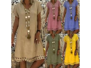 Dámské letní šaty (barva Zelená, Velikost M)