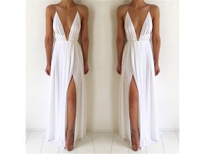 Dámské dlouhé šaty (barva Bílá, Velikost S)