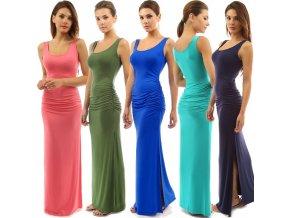 Dlouhé letní šaty (barva Zelená, Velikost S)