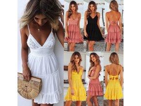 Dámské letní šaty (barva Bílá, Velikost M)