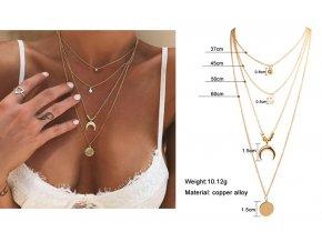 Dámský náhrdelník s několika vrstvami
