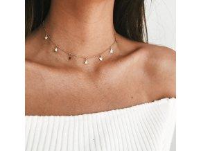 Dámský náhrdelník s hvězdičkami