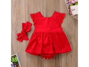 Dětské šaty s krajkou