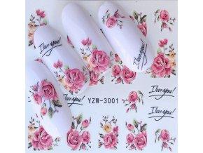 Květinové nálepky na nehty