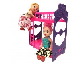 Plastový nábytek pro panenky - mix