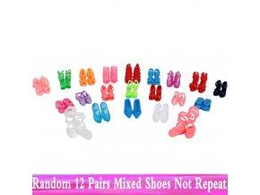 Boty pro panenky 12 párů